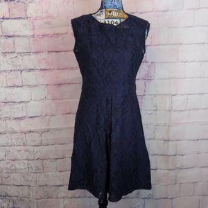 Calvin Klein Navy blue lace dress size 6